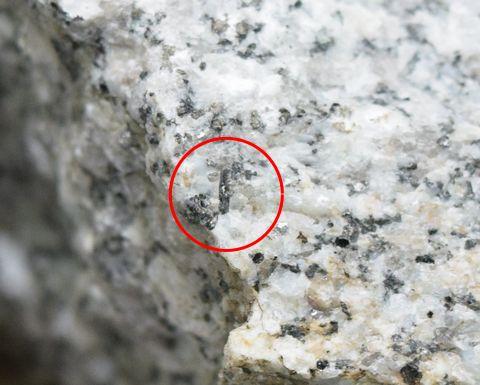 花崗岩の中にある褐簾石