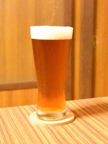 国産麦芽100%ビールをいただく