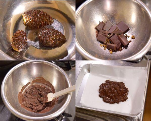 松ぼっくりチョコレートを作る