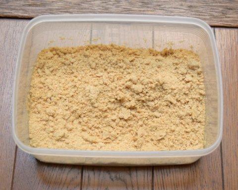 米ぬか100gに水50mlをまぜた