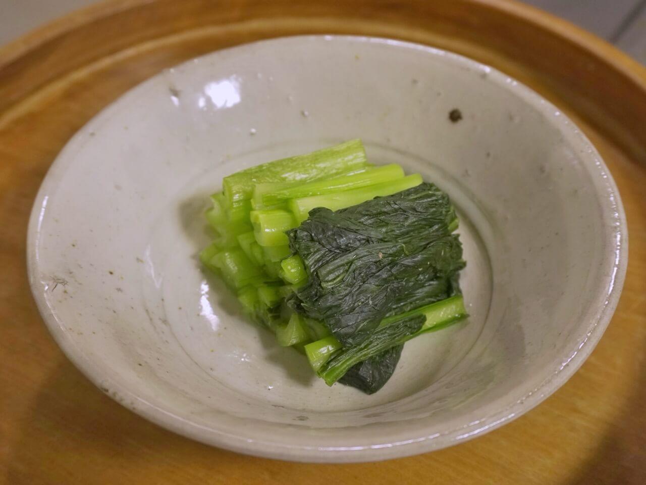 小松菜のぬか漬け