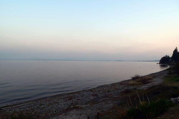 黄昏の琵琶湖
