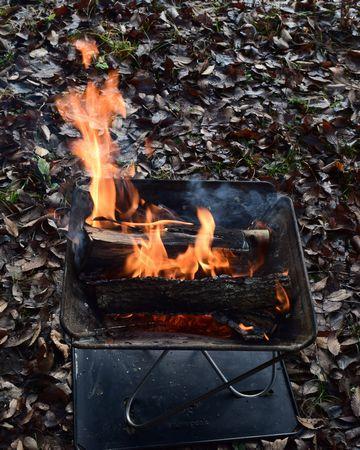 焚き火の火力は安定