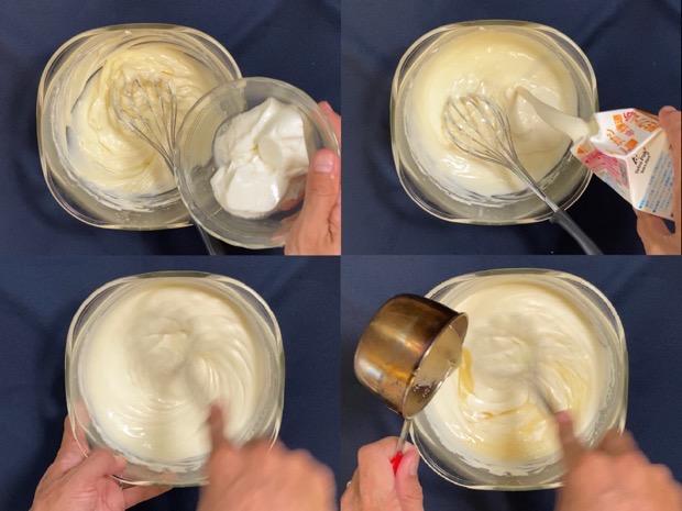 レアチーズケーキの作り方後半