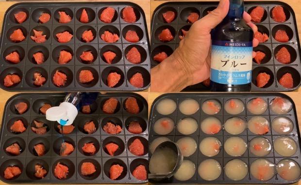 たこ焼き器でグレープフルーツゼリーを作る